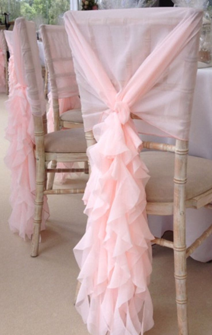Ruffled chair sashes