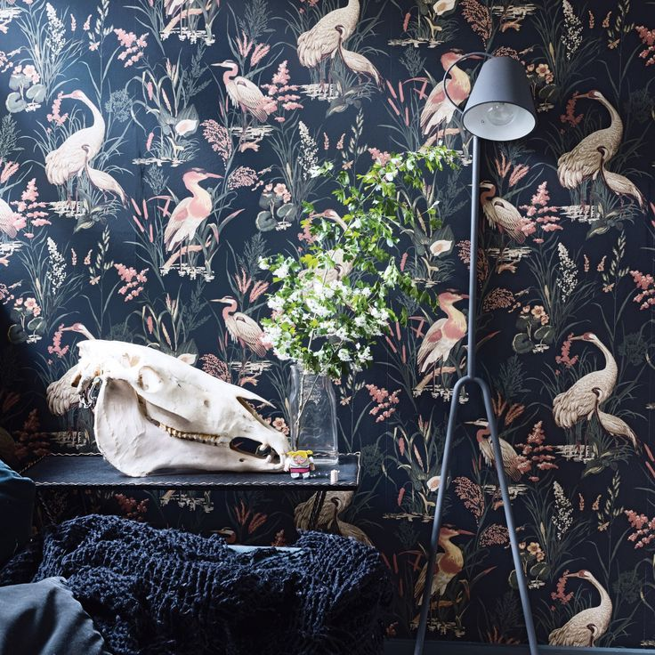 58 best papier peint noir images on pinterest. Black Bedroom Furniture Sets. Home Design Ideas