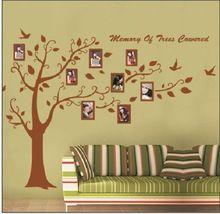 Groot formaat bruin( zwart) fotolijst boom muur stickers citaten zooyoo94ab muur kunst woonaccessoires slaapkamer muur stickers(China (Mainland))