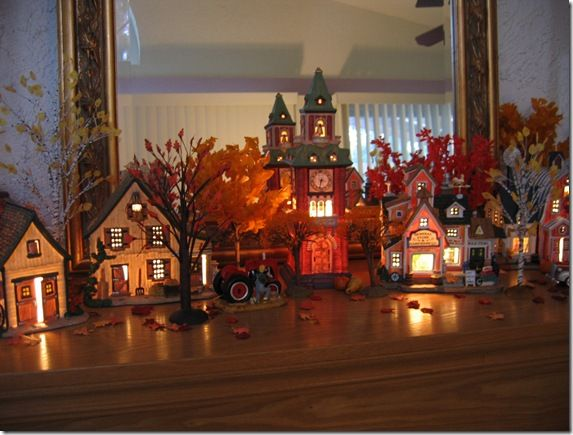 halloween village love