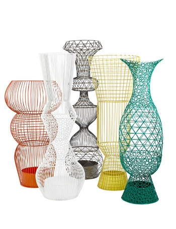 Wire vase XXL, de Pols Potten