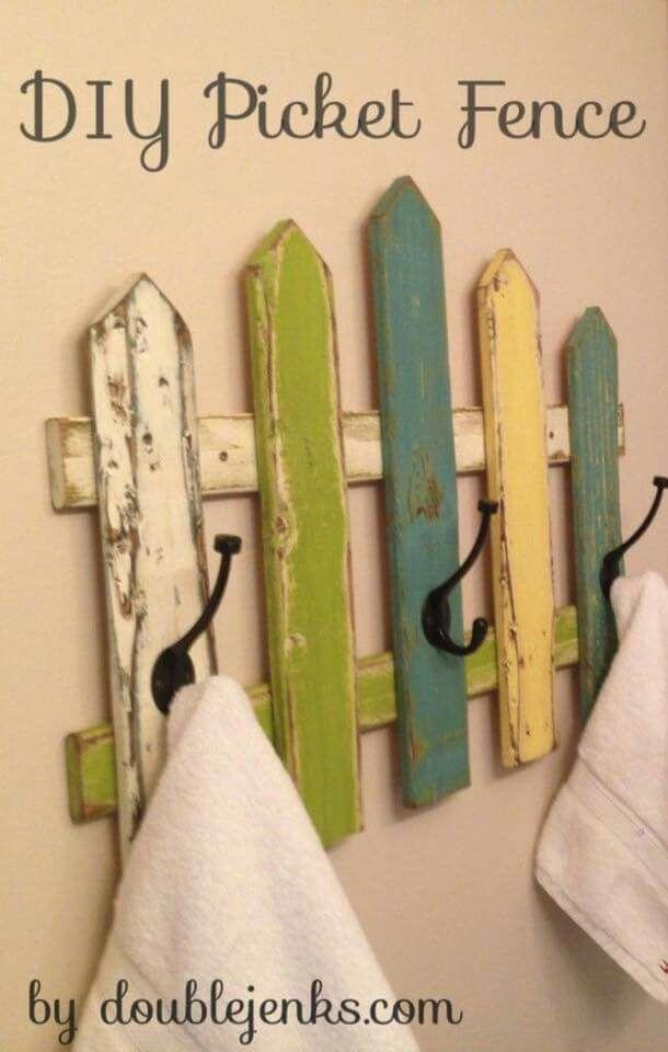 Fence coat hooks