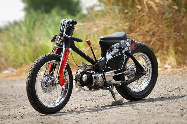 'The Eyes' Honda C70 by Minority Custom Motorcycle, Surabaya