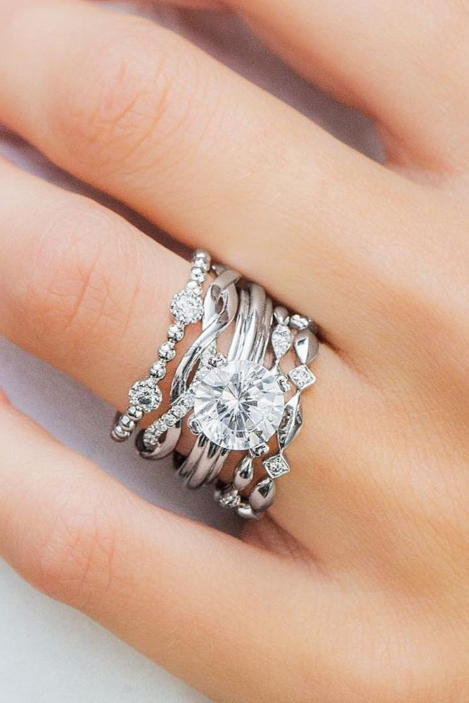 30 Best Stackable Wedding Rings Set More Rings More Shine
