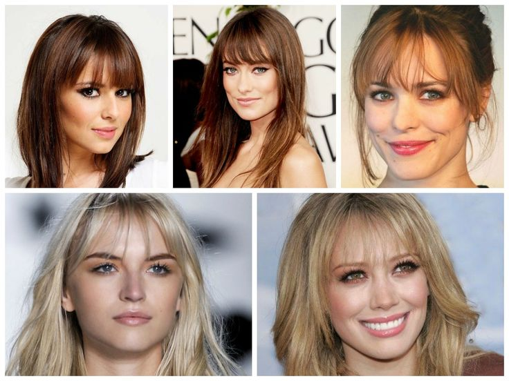 Hairstyles that Hide a Large Forehead, Wispy Bangs