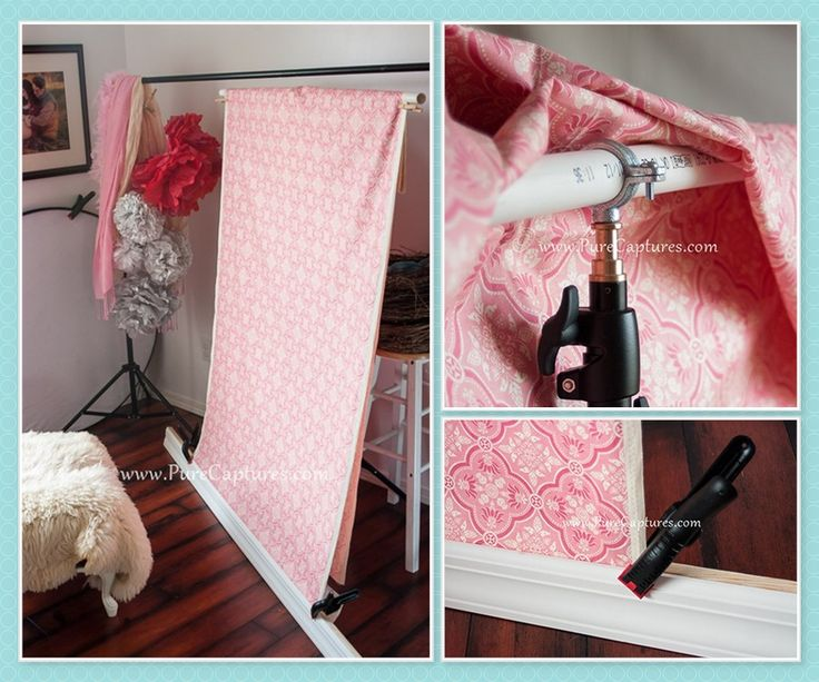 Creative, DIY, Cost-effective, Budget-Friendly Photography Backgrounds for Small Spaces - www.PureCaptures.com