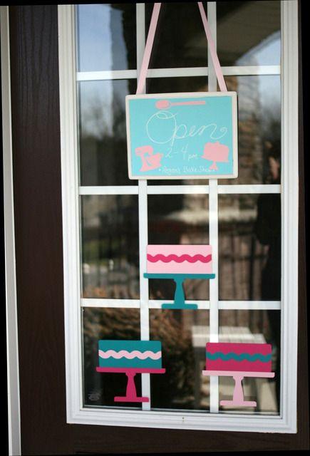 Bakeshop Party; Decorate the front door