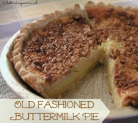 Old Fashioned Buttermilk Pie - a Texas Thanksgiving tradition!   whatscookingamerica.net #buttermilk #pie #thanksgiving