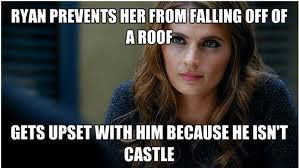 haha...well she thought she heard Castle's voice of course she's going to be disappointed.