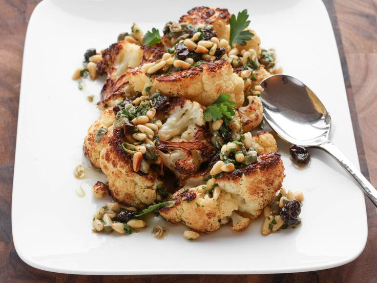 Roasted Cauliflower With Pine Nut, Raisin, and Caper Vinaigrette ...