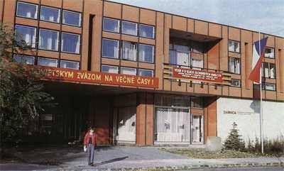 Darnica kultúrny dom československo - sovietskeho priateľstva, na Štrkovci. Bol zbúraný.