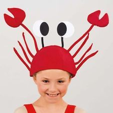 Red Crab Hat - Animal Fancy Dress - Under The Sea Dance Costume