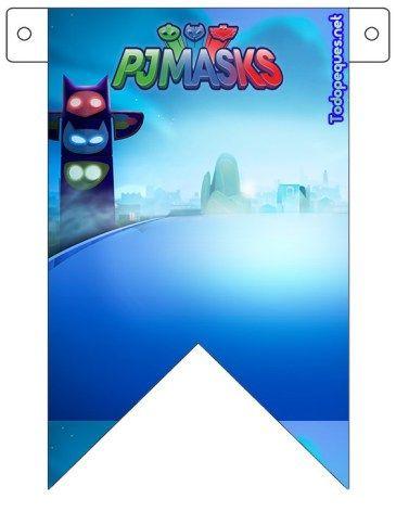 Banderines de Pj Masks o Héroes en Pijamas para descargar gratis | Todo Peques