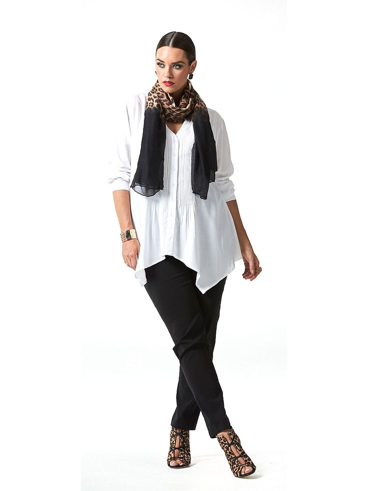 Leopard Obsession Pleated Shirt