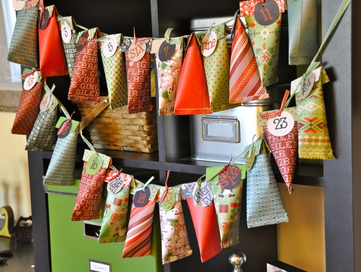 Candy pouch advent calender tutorial (scroll right down!)