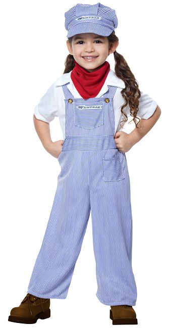 0c0a9d338b2 Amtrak Train Engineer Costume with Full Overalls in 2019