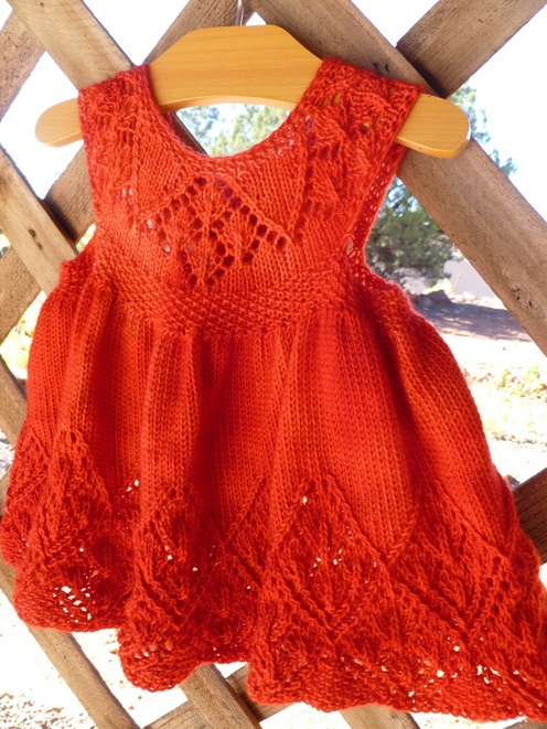 Taiga Hilliard Designs--Taiga Hilliard--Lizzy Dress (birth - 18 months) -- gotta knit this for a grand-baby someday...