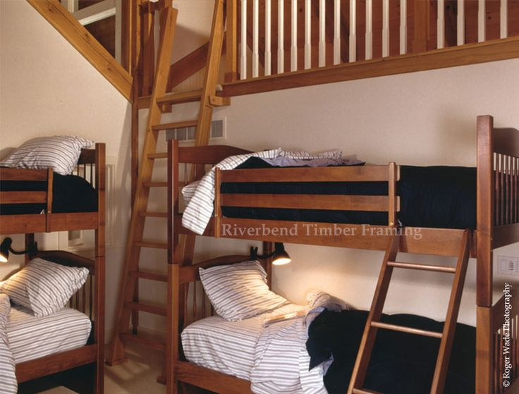 Bunk Room - Imitating the feel of sailors quarters, this bedroom is perfect for sleepovers and games of make believe. A ladder lowers you into the room where four bunk beds are placed to provide optimal space utilization and a more exciting place for a child to sleep at night than that of a regular bed.