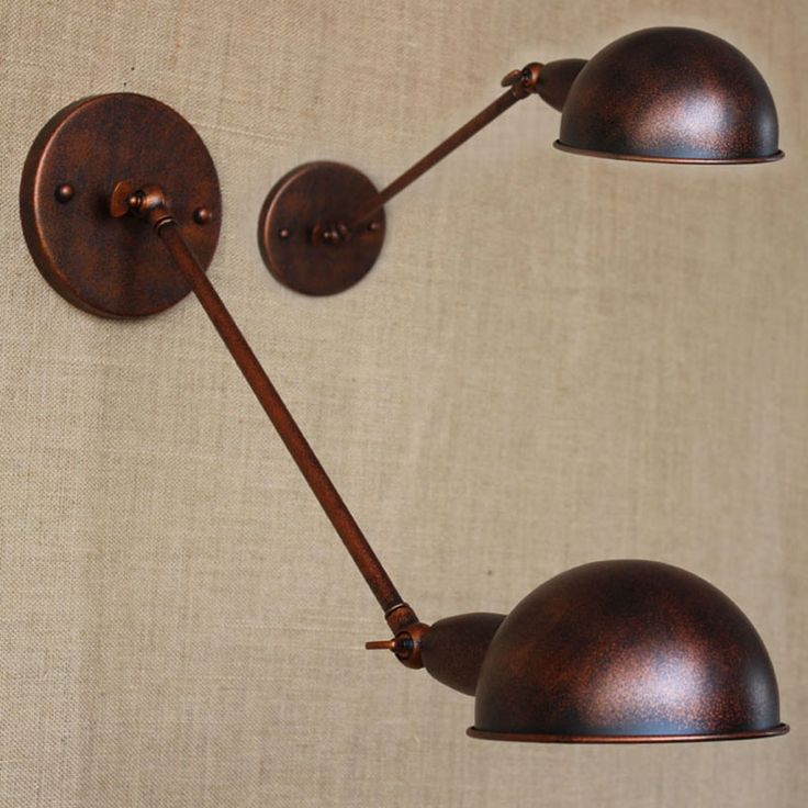 (33.87$)  Watch more here - http://aiwr9.worlditems.win/all/product.php?id=32644526589 - Retro Vintage loft brown metal country adjust  wall lamp for  Bathroom study bedroom diningroom foyer Vanity Lights E27 110-220V