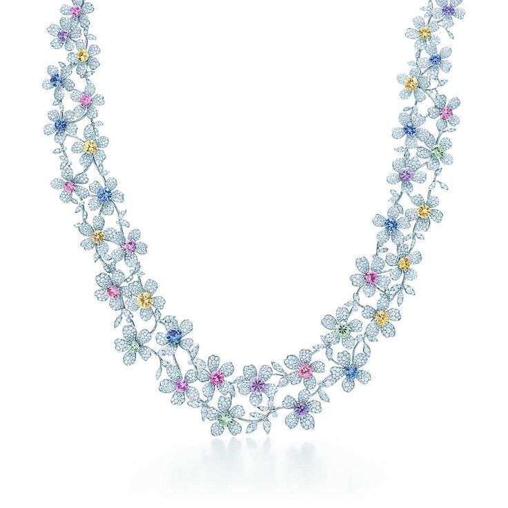 Tiffany & Co Sapphire Wildflower Necklace