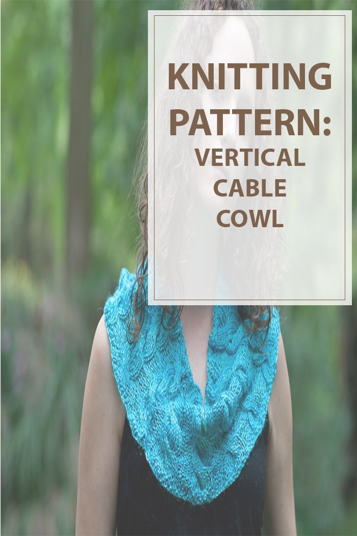 Vertical cable cowl knitting pattern is a easy pattern to make. Small and easy steps to follow, you can quickly make a vertical cable cowl to wear. #knitting #knit #pattern | www.housewiveshobbies.com |
