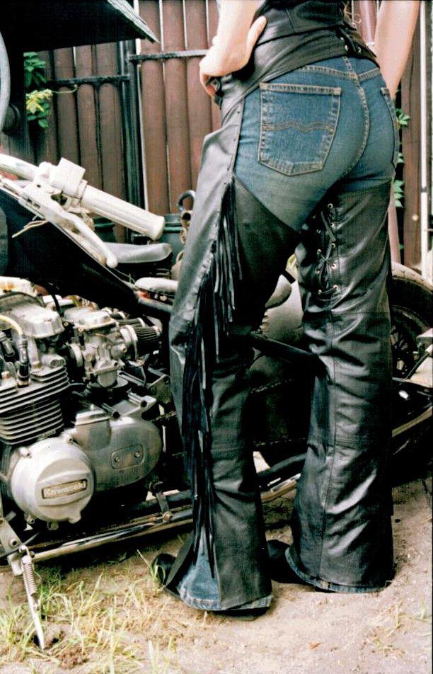 Leather chaps for women.   Producent Skórzanej Odzieży Motocyklowej  ✩www.ramoneska.pl ✩