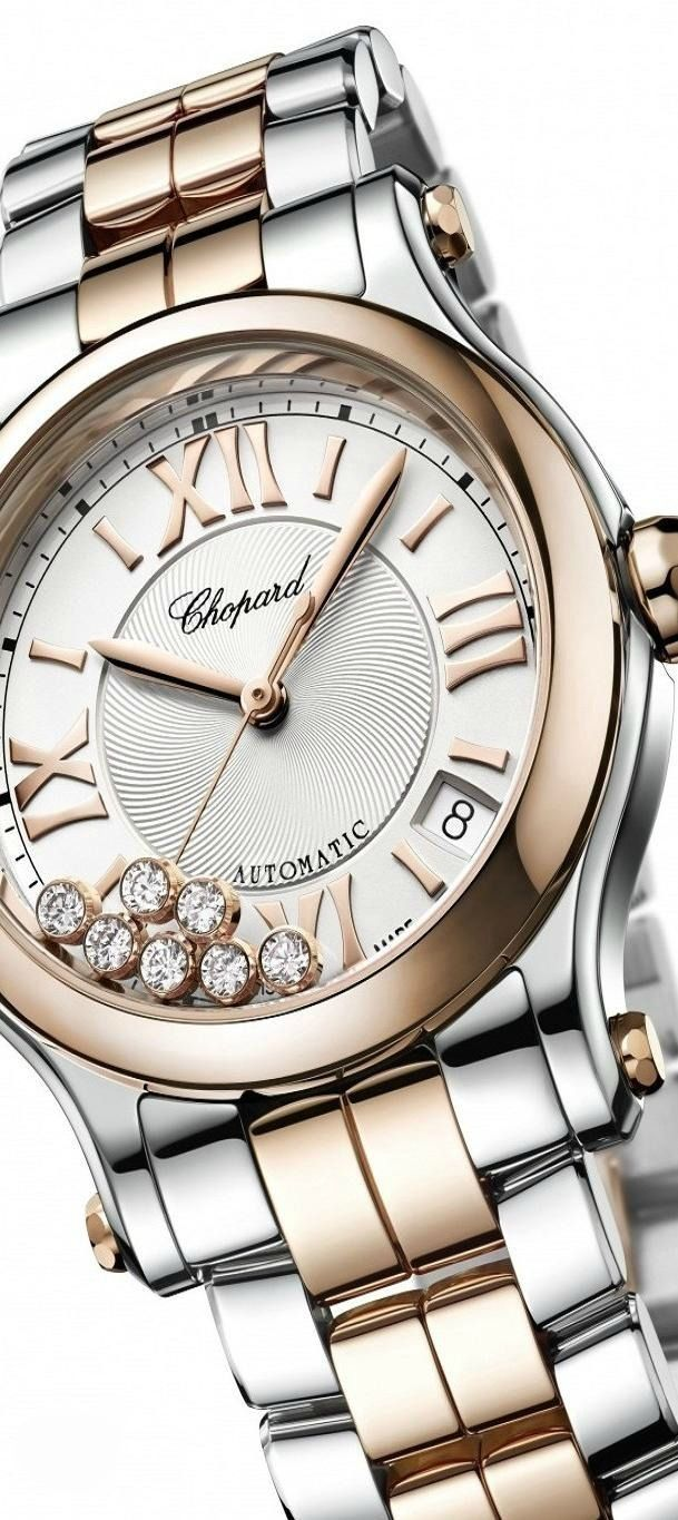 Chopard watch ... perfect for the holidays! www.kristoffjewelers.com #watches #chopard #diamonds