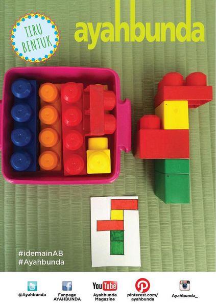 """Kini saatnya Anda mengajak buah hati bermain Tiru Bentuk.  Yang Anda butuhkan beberapa bentuk lego, kertas, serta spidol atau pensil warna.  Pertama, buat pola bentuk lego di kertas, warnai sesuai lego bentuk dan potongan lego yang dimiliki balita Anda. Lalu minta balita Anda meniru pola yang Anda buat.  Dengan mencoba #idemain """"Tiru Bentuk"""" balita Anda akan semakin terlatih daya imajinasi, kreativitas, sekaligus melatih motoriknya dalam mengolah lego menjadi bentuk yang sama dengan…"""
