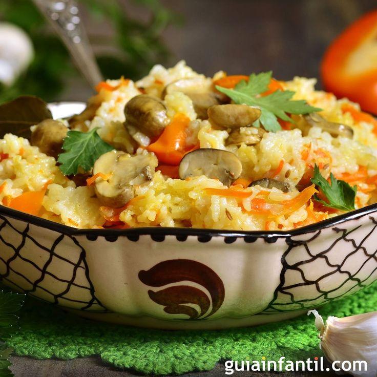 El plato ideal para la dieta vegetariana o para tomar en Semana Santa, una receta para niños de arroz con verduras sano y rápido para toda la familia. En Guiainfantil te enseñamos a cocinar arroz con verduras