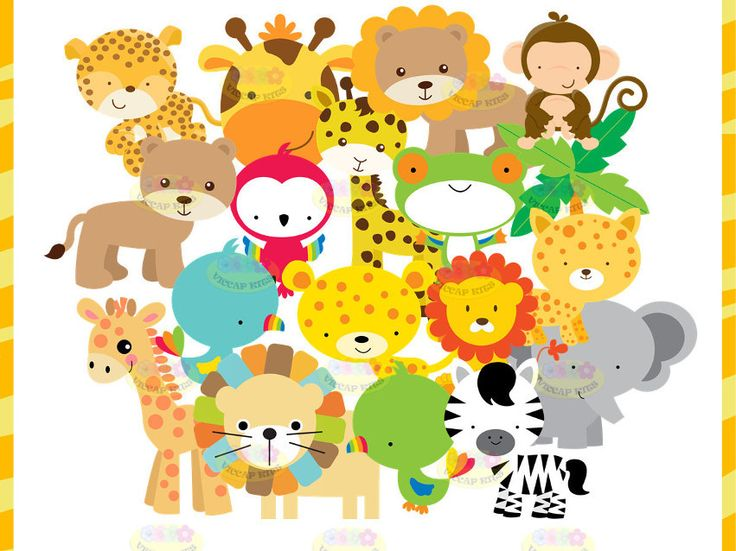 Kit Imprimible Animalitos De La Selva Invitaciones Candy Bar - $ 44,99