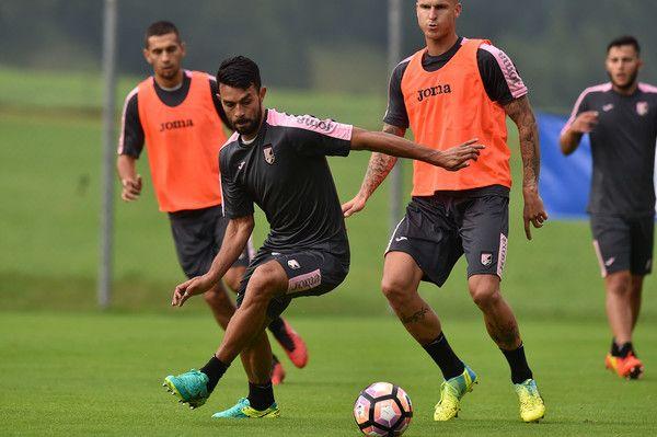 Giancarlo Gonzalez in action  at Sport Arena, US Citta' di Palermo training camp base on July 12, 2016 in Bad Kleinkirchheim, Austria.
