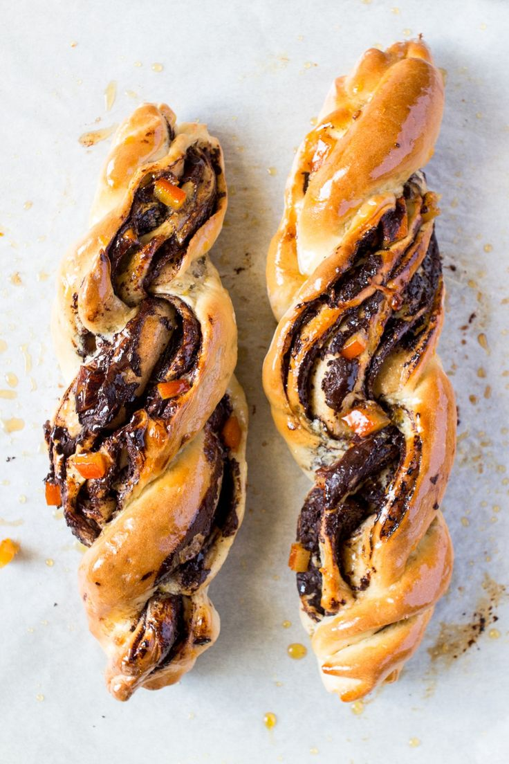 Chocolate and orange twists