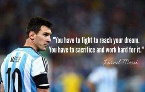 Lionel Messi #quote #Zitat