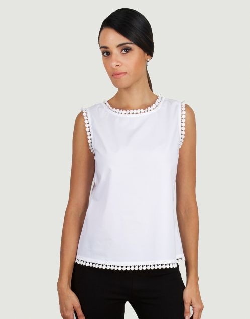 Guayabita - Camisa Blanca - Blusa Blanca - Vicenta                                                                                                                                                      Más