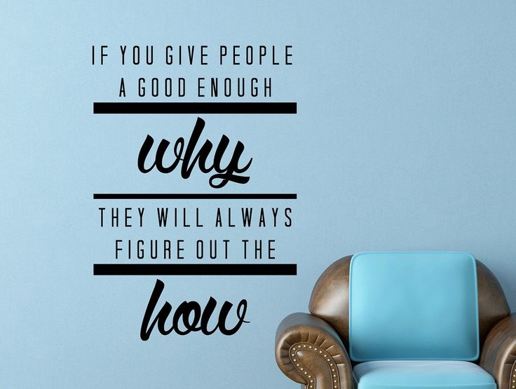 """Jordan Belfort Motivational Typography Quote Wall Decal Office Home Decor """"If You Give People a Good Enough Why""""25x17 Inches"""