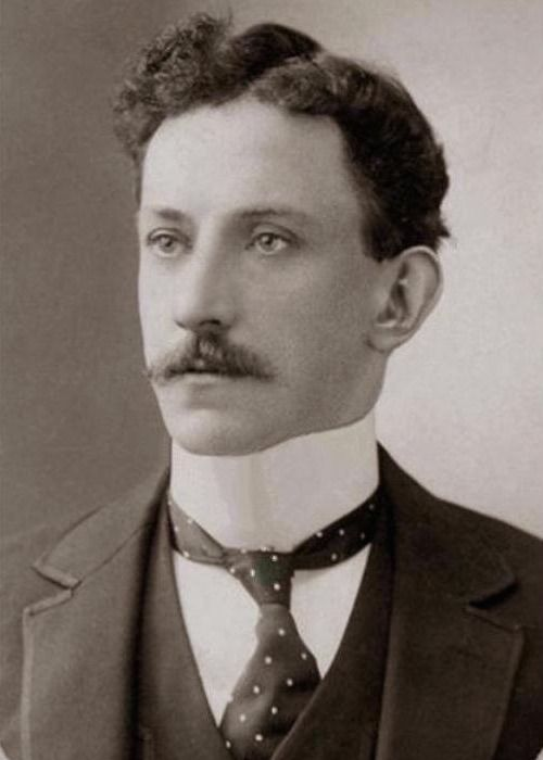 This dapper gentleman from 1900 is wearing not one but two fashions that could choke him, a stiff collar and a necktie. (via Pinterest)