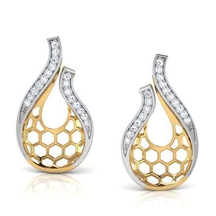 Nila Dancing Drop Stud Earrings Jewellery India Online - CaratLane.com