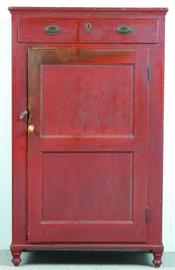 19th Century Montgomery Co., PA Red Cupboard