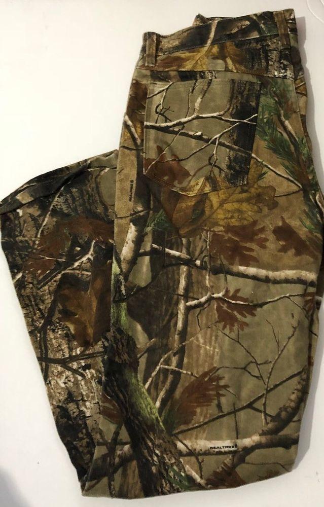 Men's Wrangler Pro Gear Tree Camo Camoflauge Hunting Outdoor Pants Size 32x32  | eBay