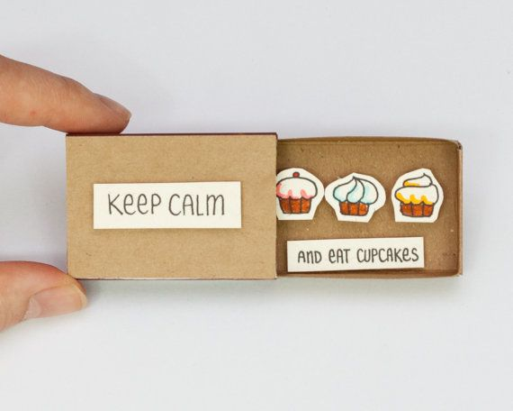 Cute Fun Encouragement Card Matchbox/ Gift box / par shop3xu
