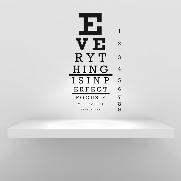 Tabla optométrica Snellen médico Dr. mensaje por VinylWallAccents