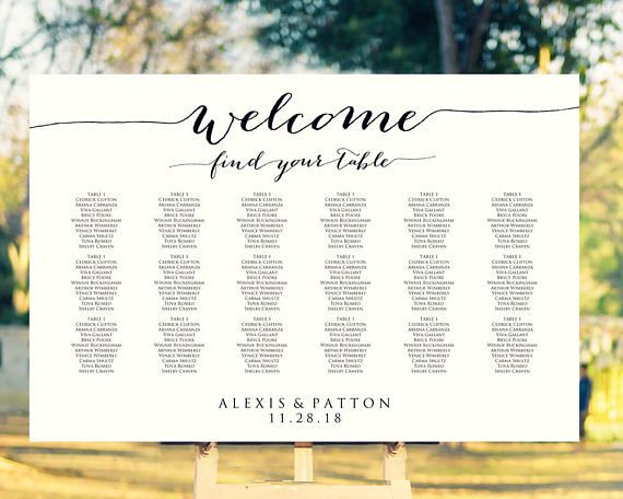 79 best event planning images on pinterest wedding for Bridal shower seating chart template