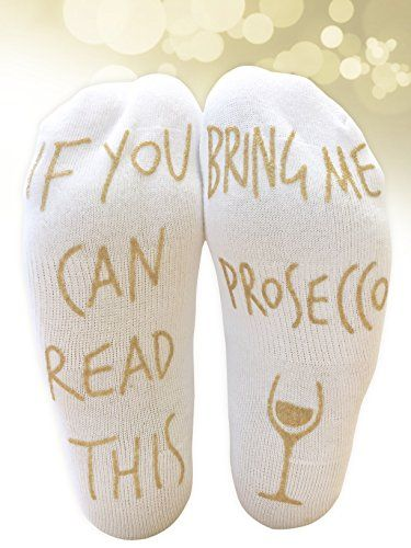 'If You Can Read This Bring Me Prosecco' Funny Ankle Socks
