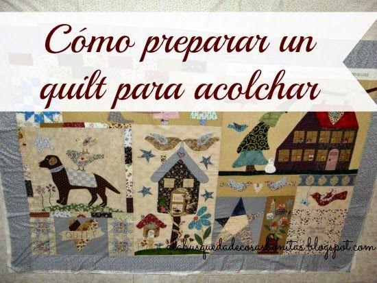 Tutorial: preparar un quilt para acolchar