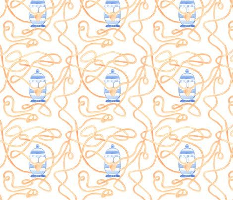 Moustache and spaghetti! fabric by t-w-i-n-k-l-e on Spoonflower - custom fabric