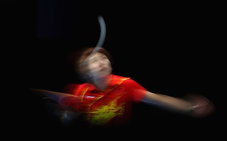 Li Xiaoxia of China completes during Women's Team Table Tennis semifinal match against team of Korea on Day 10 of the London 2012 Olympic Games