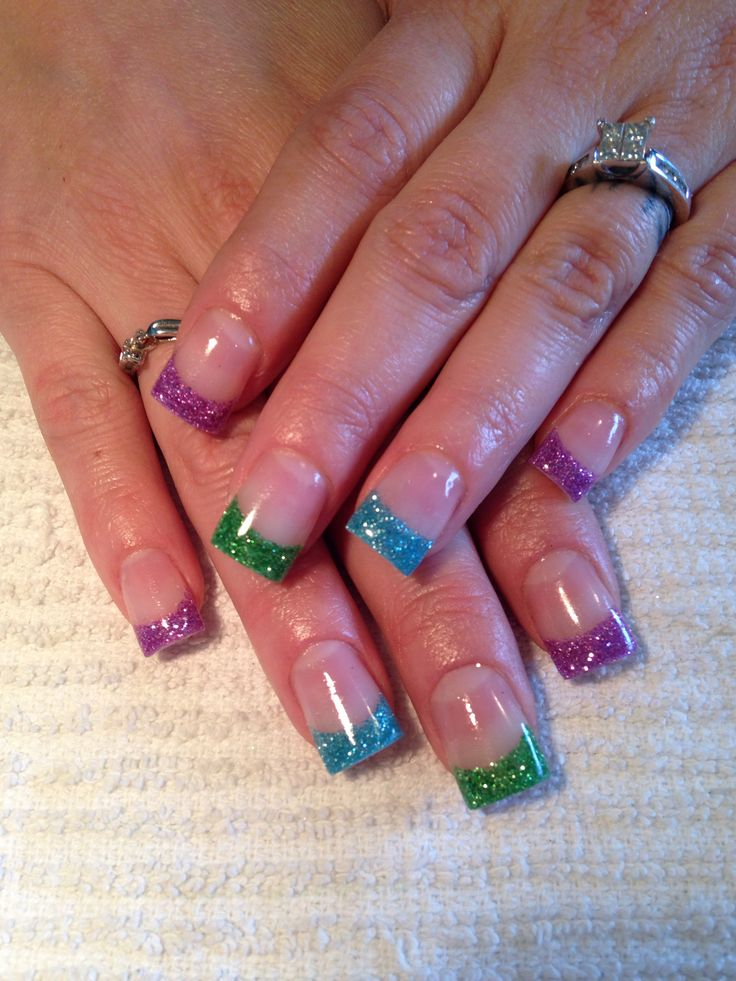 Spring French Gel Nails