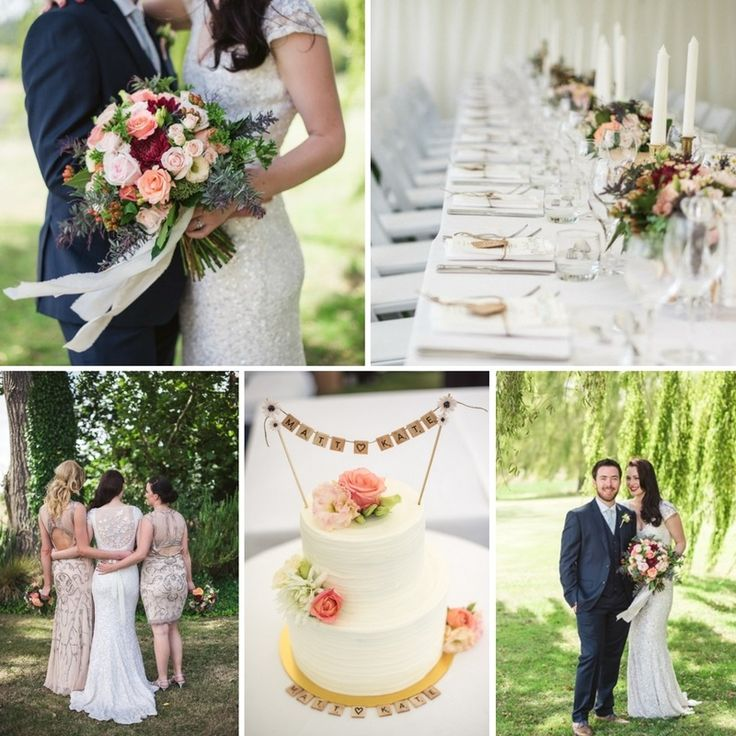 An Intimate Garden Wedding with Old Hollywood Glamour
