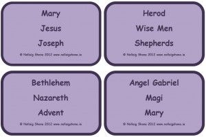 Nativity Reversals - an oral language game based on the vocabulary surrounding the Nativity