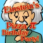 Einstein's Pizza Pi Party! π Geometry Worksheet~  Did you know that Albert Einstein was born on National Pi (π) Day, March 14 (3/14)? This worksheet shows Einstein pondering some geometric calculations before tearing into a cheesy treat at his birthday party. The pizza pie is a fun real life visual used to solve geometry problems dealing with circumference, area, radius and diameter. The last couple of questions are a little more advanced- lower grade levels can also do these as extra…